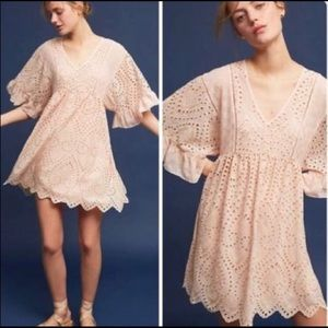 Akemi + Kin Brooke Eyelet Bell Sleeve Swing Dress